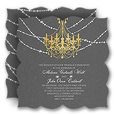 Mood Lighting David Tutera Wedding Invitation