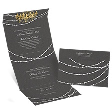 Mood Lighting Seal and Send David Tutera Wedding Invitation