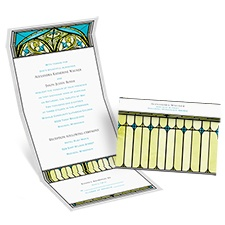 Radiant Art Palm Seal and Send Wedding Invitation