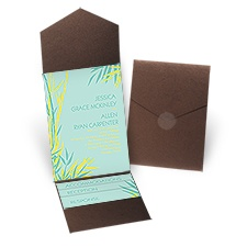 Tropical Thrill - Brown Shimmer - Pocket Invitation