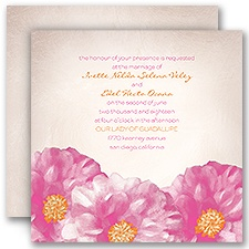 Spanish Poppy Wedding Invitation