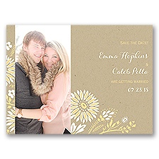 Prairie Floral - Save the Date Card