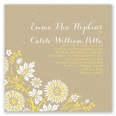 prairie floral invitation