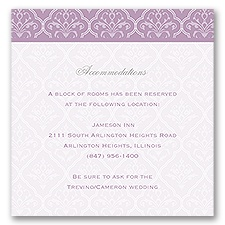 Classic Romance - Pocket Accommodations Card