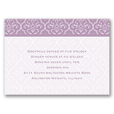 Classic Romance - Reception Card