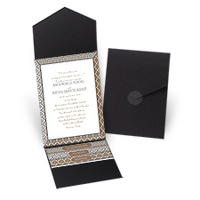 Mix and Mingle - Black - Pocket Invitation