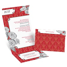 Forever Vintage Seal and Send Red Wedding Invitation