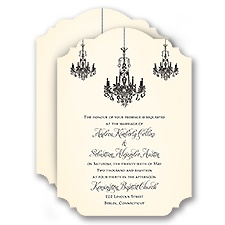 Ballroom Beauty Wedding Invitation