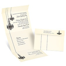 Ballroom Beauty Seal and Send Wedding Invitation
