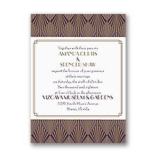 Roaring Style Petite Vintage Wedding Invitation