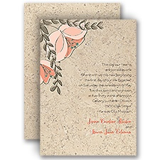 Corkboard Floral - Invitation