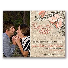 Corkboard Floral - Save the Date Card