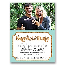 Corkboard Frame - Save the Date Card