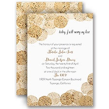 Corkboard Polka Dots - Invitation