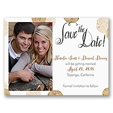 Corkboard Polka Dots - Save the Date Card