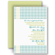 Dots of Detail Wedding Invitation