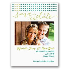 Dots of Detail - Save the Date Card