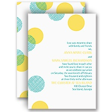 Plaid Polka Dots - Invitation