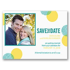Plaid Polka Dots - Save the Date Card