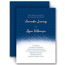 Polka Dot Horizon - Invitation