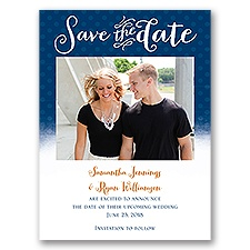 Polka Dot Horizon - Save the Date Card