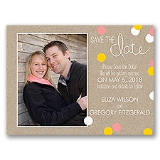 Dazzling Polka Dots - Save the Date Card