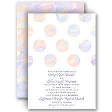 Marble Polka Dots - Invitation