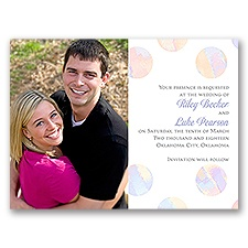 Marble Polka Dots - Save the Date Card