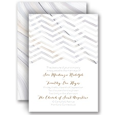 Marble Chevron - Invitation