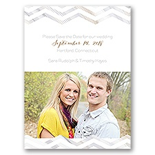 Marble Chevron - Save the Date Card