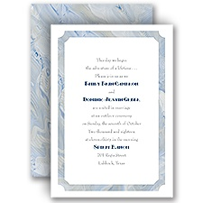 Marble Frame - Invitation