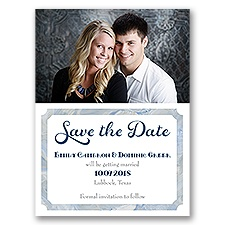 Marble Frame - Save the Date Card