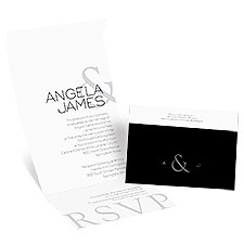 Modern Marvel Seal and Send Wedding Invitation