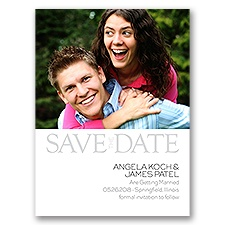 Modern Marvel Photo Save the Date
