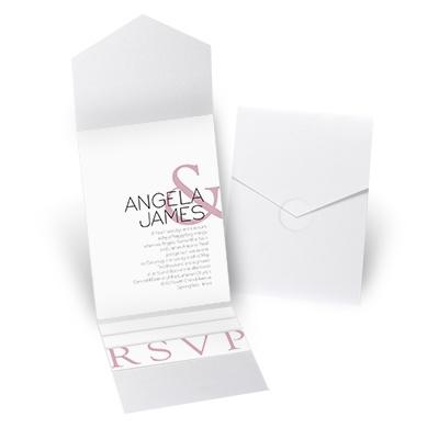 Modern Marvel - White Shimmer - Pocket Invitation