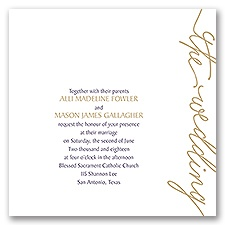 Pure Sophistication - Invitation