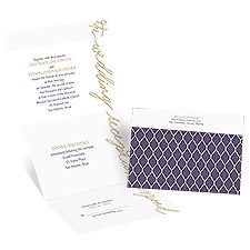 Pure Sophistication Seal and Send Wedding Invitation