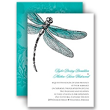 Dragonfly Dream Wedding Invitation