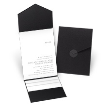 Simply Refined - Black - Pocket Invitation