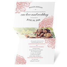 Floral Glimpse Wedding Invitation