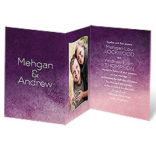 Purple Fade Purple Wedding Invitation