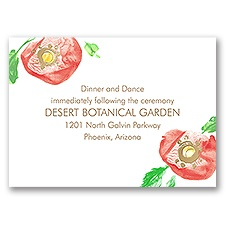 Pretty Poppies - Gold - Foil Reception Card