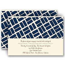 Stone Path Ecru Wedding Invitation