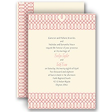 Love to Infinity Ecru Wedding Invitation
