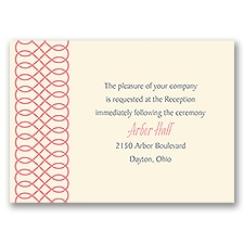 Love to Infinity - Ecru - Reception Card
