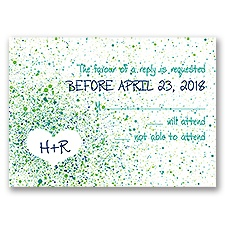 Splatter Paint - Emerald - Response Card