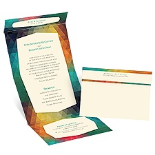 Vibrant Vision Ecru Seal and Send Wedding Invitation