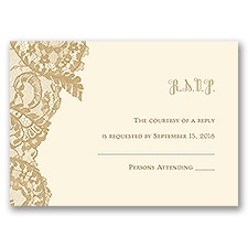 Ornate Lace - Ecru - Response Card