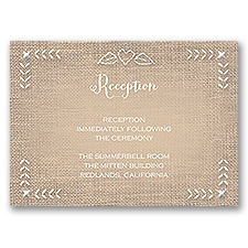 In Stitches - Reception Card