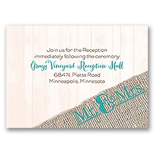 Burlap Band - Mr. & Mrs. - Reception Card